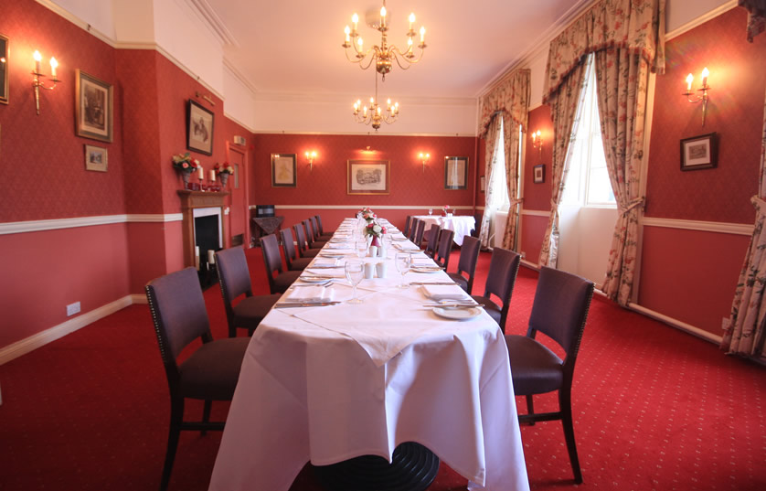 Private dining at Worsley Arms Hotel